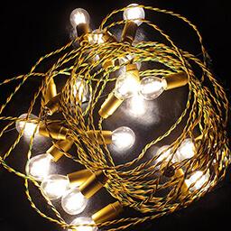 Светодиодная гирлянда золотая