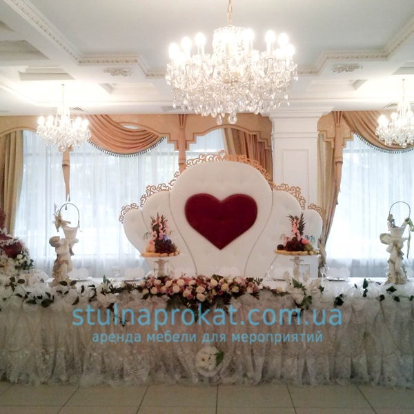 185837ccefff241 Аренда свадебной мебели в Киеве, свадебная мебель напрокат